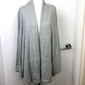 Mossimo Shawl Collar Open Front Grey Sweater Cape